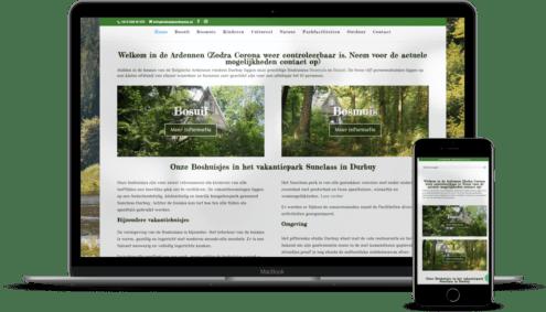 ERC Webhosting en Design Boshuisje Ardennen
