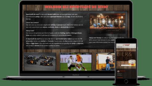 DIVI webontwerp en ERC Hosting Cafe de Werf Egmond