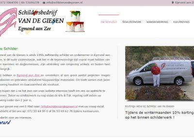 Webdesign en hosting Schilder van de Giesen in Egmond